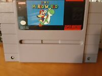 Super Nintendo SNES Super Mario World Cartridge Excellent Condition Tested Works