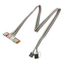 I/0 Audio Dual USB Front Panel Board Cable Wire for Computer PC Case Mainbox