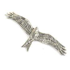 Rouge Milan Hawk Oiseau de Proie Étain Épinglette Bois Vtg Style Rétro Classique