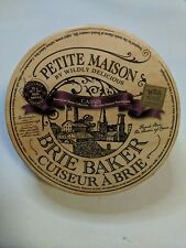 Petite Maison by Wildly Delicious Ceramic Brie Baker,Casserole Dish (Burgundy)