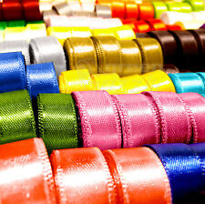 6mm Satin Ribbon Double Sided Best Quality Cut Lengths Wedding Party Supply AYL