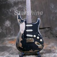 ST Electric Guitar Handmade Heavy Relic Nitrolacquer Stain Finish 3S Pickups