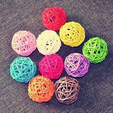 10Pcs Mix Color Party Supplies 3cm Rattan Ball Craft Ball Christmas Decor