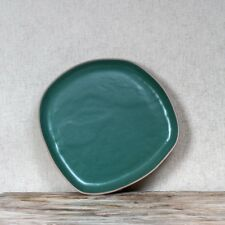 1 x Courgette Green Dinner Plate, Clay Ceramic, Rustic Dinnerware Abstract Shape