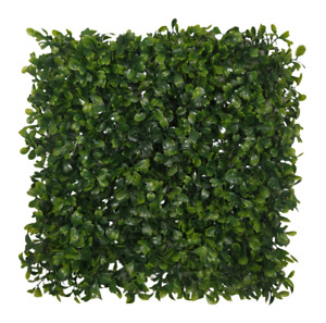 Artificial Boxwood Hedge Panel Plastic Topiary Garden Green Leaves 28 x 28cm