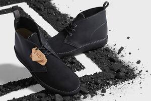 END X Clarks Originals Desert Boots Coal BLACK DIAMOND Black Combi leather/suede