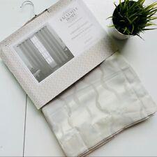 Magana Geometric Semi-Sheer Grommet Curtain Panels