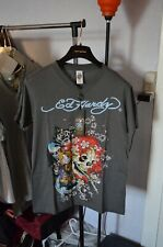 Made in USA Christian Audigier ED HARDY T-Shirt  NEW NWT Black Skull Flame Woman