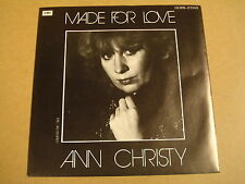 45T SINGLE / ANN CHRISTY - MADE FOR LOVE