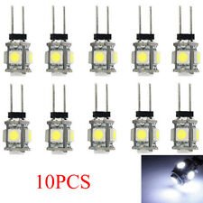 10Pcs White G4 5SMD LED 5050 RV Marine Boat Camper Auto Car Light Lamp Bulbs