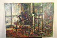 Monogramm  Ateliers mit Staffelei und Palette