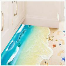 3D Beach DIY Removable Art Vinyl Wall Stickers Decal Mural Decor Room Floor JJ