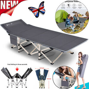 """Portable 26"""" Extra Wide Heavy Duty Sturdy Folding Camping Travel Beds Adult Kids"""