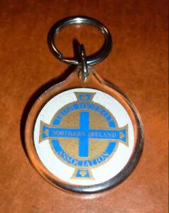 NORTHERN IRELAND FOOTBALL ASSOCIATION 1980s - Original Old Acrylic Key Chain