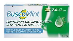 Buscopan Buscomint 0.2 ml Peppermint Oil IBS MultiSymptom Treatment, Soft Gel Ca