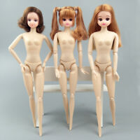 Kids Toy Doll Head & Moveable 12 Jointed Doll Body For Licca Doll 1/6 BJD Dolls