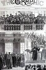 University of Cambridge Concert 1877 HERR JOACHIM MUSICAL DOCTOR Matted Print