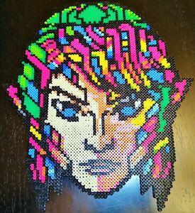 "BIG Nintendo LEGEND of Zelda Link Handmade Perler Beads 15""x13.5"" Stained Glass"