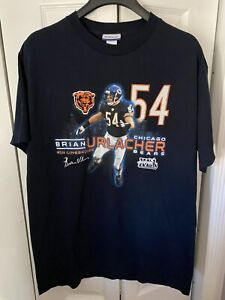 Reebok Brian Urlacher #54 HOF Chicago Bears T-shirt Size M Super Bowl XLI