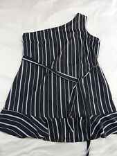 City Chic XS 14 Tunic Stripe White Black