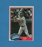 1981 Topps Ron Cey Baseball Card #260 Los Angeles Dodgers