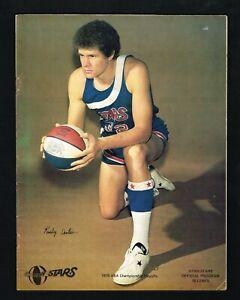 1975 Utah Stars vs Denver Nuggets ABA Basketball Division Semi Playoff Program