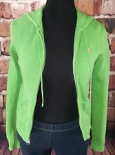 Green hooded sweater size M Ralph Lauren zip up 100% cotton casual sport