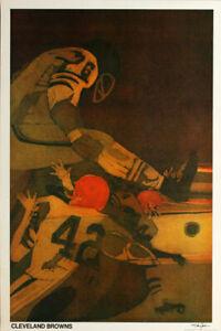 Cleveland Browns ORIGINAL 1968 NFL Poster VTG Hoyle Theme Series 2x3'  Jim Brown