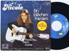 NICOLE Ein Bisschen Frieden German 45PS 1982 Eurovision