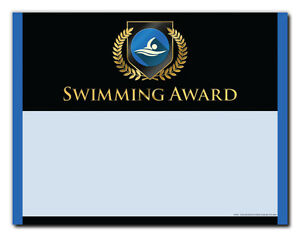 Swimming Sports Award - Gold Shield - Cool School Studios - Package of 25