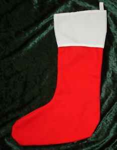 Christmas Stocking for decoration by sublimation printing or vinyl printing