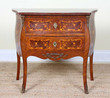 Antique Swedish Marble Bombe Commode Chest of Drawers Louis XV Style