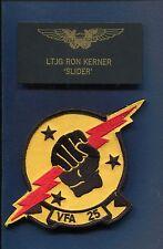 RON SLIDER KERNER TOP GUN MOVIE COSTUME US NAVY Name Tag Squadron Patch Set LE