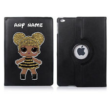 LOL Doll 04 Name Personalised iPad 360 Rotating Case Cover Birthday Present Gift