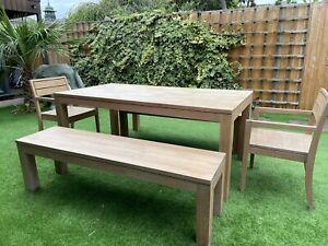 heals dining table set Solid Oak