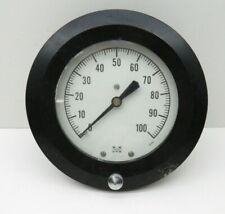 "Marsh Pressure Gauge 0-100PSI, 4"" Face, 1/4"" NPT Back Mount"
