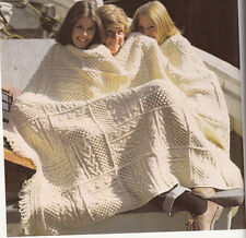 Knitting Pattern- Aran blanket/Throw - knitted in squares then joined -Lovely