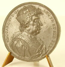 Médaille Edouard Edward IV casqué en armure armor helmets sc Jean Dassier medal
