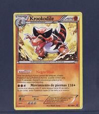 carte Pokemon  KROOKODILE   rare  62/98  en Espagnol