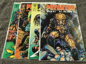 1991 DARK HORSE Comics PREDATOR Big Game #1-4 Complete Limites Series - VF/MT