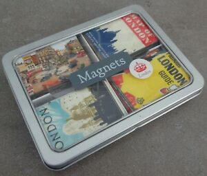 CAVALLINI & CO SAN FRANCISCO COLLECTION OF 24 LONDON MAGNETS IN TIN