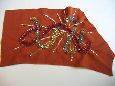 Handmade Vintage Beadwork Sequin Applique Embellishment Piece - 1960's??