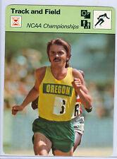 1977 Steve Prefontaine Sportscaster Oregon NCAA Track & Field Card #34-10
