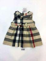 NEW Burberry Check Plaid Tan Beige Dress Kids Girls Baby skirt