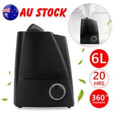 6l Air Humidifier Ultrasonic Cool Mist Steam Nebuliser Aroma Diffuser Purifier