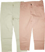 M&S Ladies Womens Crop Jean Regular Relaxed Slim Mid Rise Natural & Blush Pink