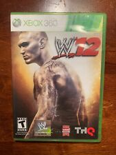WWE '12 (Xbox 360, 2011) w/Case and Manual, Tested & Working.