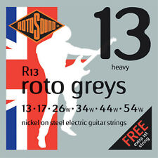 ROTOSOUND R13 GREYS HEAVY ELECTRIC GUITAR STRINGS 13-54