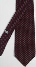 Vintage Brioni Blue 100% Silk Tie Italy Modern Polka Dot Ladybug Design