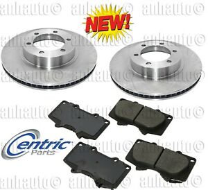 Front Brake Rotors+Pads for Toyota with 319mm Disc 4Runner,Tacoma,FJ Cruiser